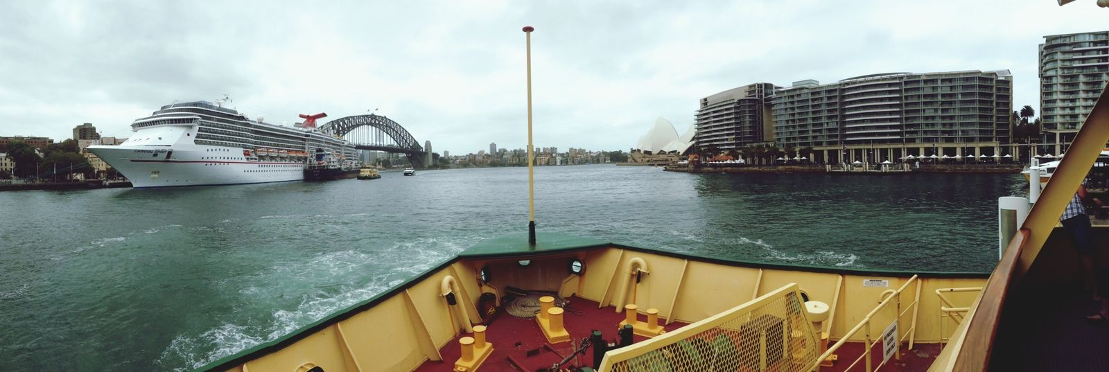 Took the ferry to manly and passed Sydney bridge and the Sydney Opera House on the way ?