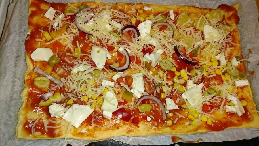 Pizza 🍕 Silvester 2017 Food Food And Drink Sweet Food Freshness Indulgence Directly Above No People
