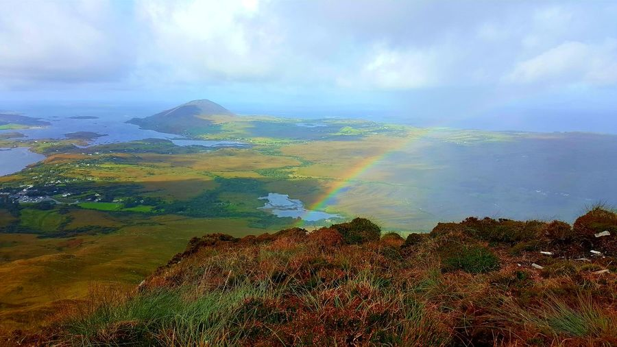 Rainbow above