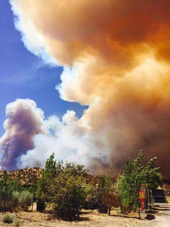 Fire near St. Bernardino CA California Fire St Bernardino Mountains