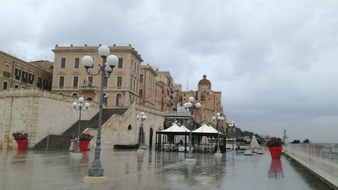 walking in the rain Sardinia Sardegna Italy  Bastione Di Saint Remy History Architecture Water Cloud - Sky Travel Destinations People Sky Day Outdoors