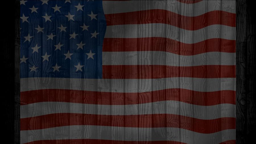 American flag on wood texture background can be used for display or montage your products. Advertising American Flag Independence President Constitution Rippled Ruffled Symbol Symbolic  Wood Texture Background