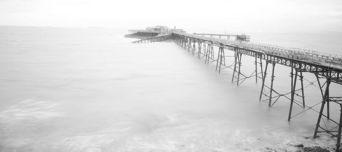 Birnbeck Pier Overexposed Weston-super-mare Architecture Beach Built Structure Deralict Horizon Over Water No People Outdoors Scenics Sea Tranquil Scene Tranquility Water