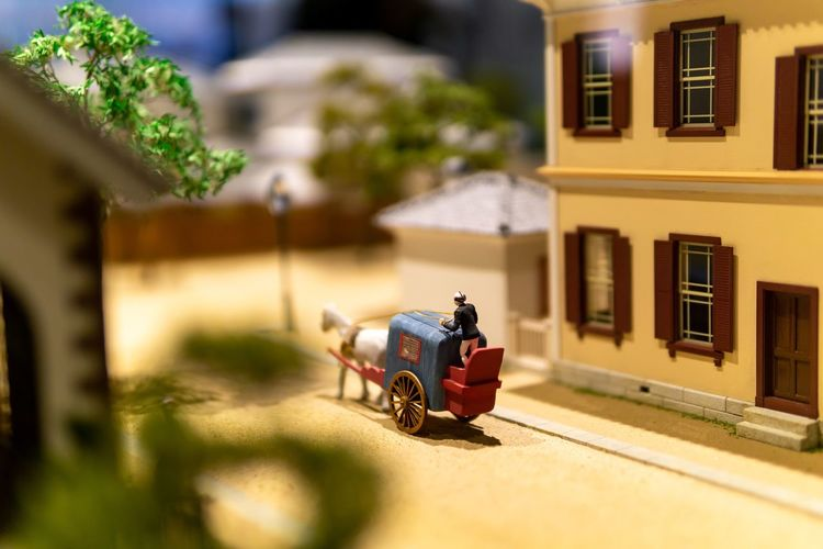 The time is still traveling by carriage. Art And Craft Creativity Japan Japanese Culture OSAKA Travel Architecture Art Carriage Education Exhibition Figurine  History Human Representation Mode Of Transportation Model Museum Representation Selective Focus Small Street The Past Transportation