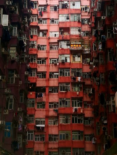 Hong Kong 1/3 ASIA Hong Kong Capture Tomorrow Red Full Frame Residential Structure Urban Scene Building Human Settlement Crowded My Best Photo