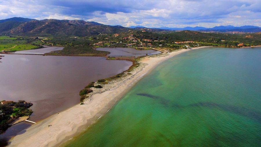 Italy Sardinia Sardinia Sardegna Italy  Portotaverna Sardegna Mare Water Mountain Lake Beach Sky Landscape Cloud - Sky
