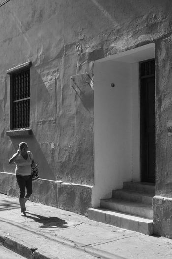 Architecture Building Exterior Built Structure Cartagena Cartagena, Colombia Colombia Colombia ♥  Day EyeEm Best Shots EyeEm Best Shots - Black + White EyeEm Gallery Full Length Lifestyles One Person Outdoors People Real People