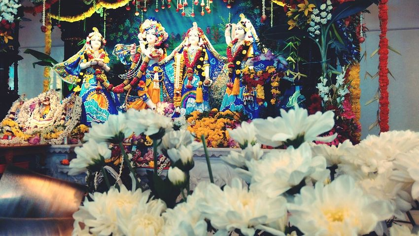 Birthday of the Lord Janmashtami Celebration Lord Krishna  Hare Krishna Festive Season Vibrant Colors Mobile Photography