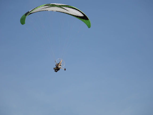 A para motor glider sport Adventure Blackandwhite Bravery Extreme Sports Freedom Fun Glass Leisure Activity Lifestyles Mid-air New Challenge Outdoor Sports Outdoors Paramotoring Finding New Frontiers