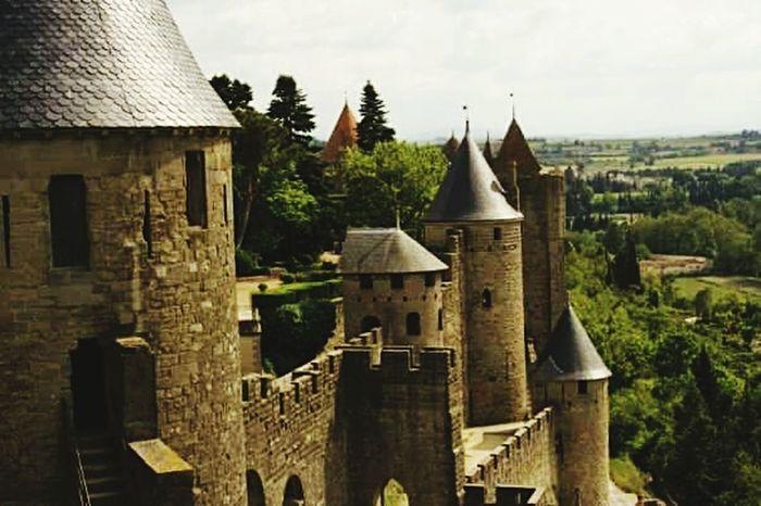 Historic Building Historic Site Historical Place La Cité Carcassonne City Historical Building Carcassonne Castle Carcassone, France Carcassonne