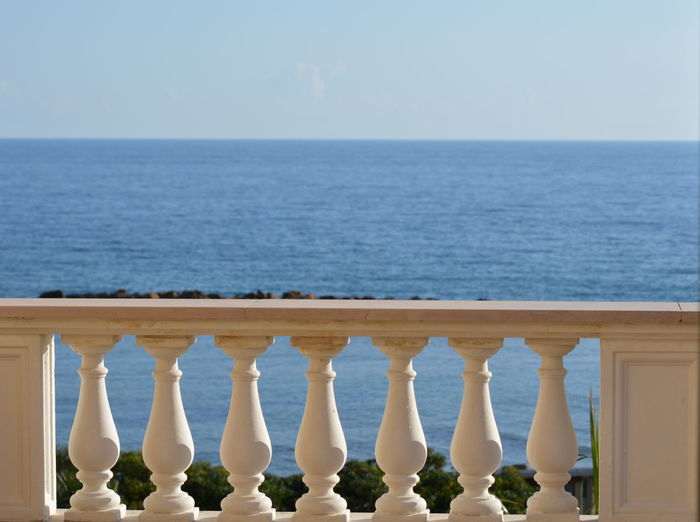 Zoom on a terrace at the mediterranean sea Zoom On A Terrace At The Mediterranean Sea Horizon Over Water Horizon Balustrade No People Idyllic Tranquility Tranquil Scene Nature In A Row Sea Sky Water Outdoors Beach Beauty In Nature Clear Sky Land Terrace View Terrace Terrace Railing Mediterranean Sea In The Background Mediterranean Sea Railing Vacation