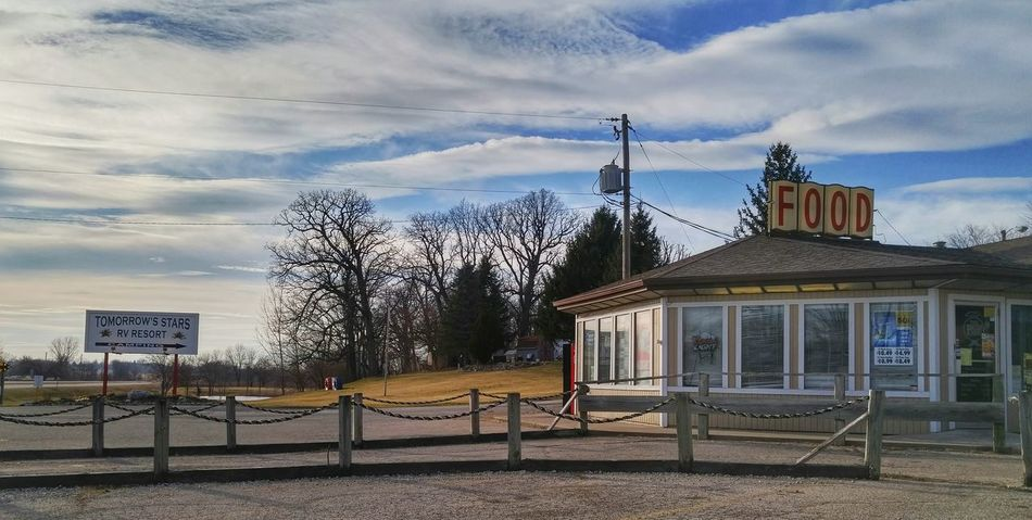 Springfield Ohio Diner Small Town Blue Sky Rv Park Camper Colour Of Life