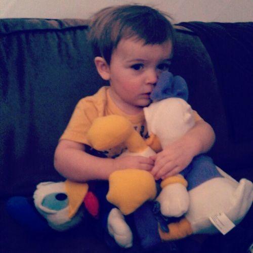 he loves Donaldduck & Daisyduck Disney