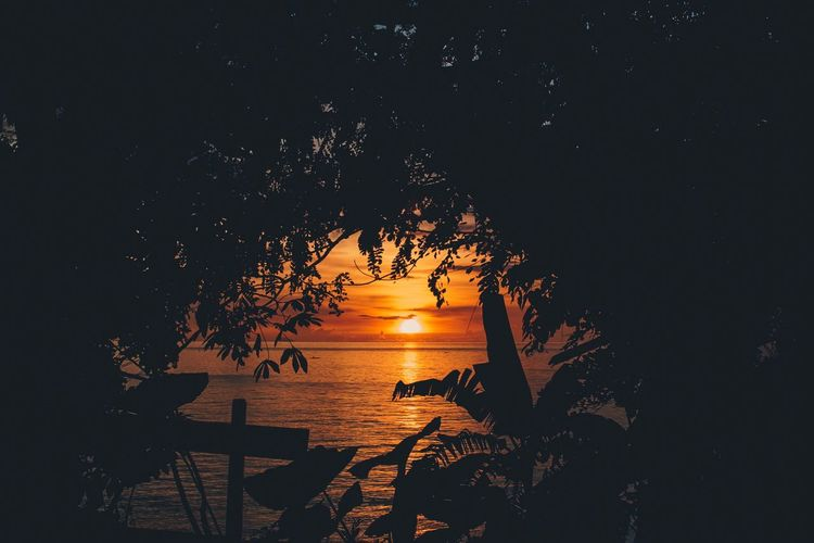 Zamboanga Sunsets Sunset Nature Scenics Beauty In Nature Sea Water Sky Tranquility No People Outdoors Vacations Tree Eye4photography  EyeEm Best Shots Eyeem Philippines EyeEm Gallery Nature