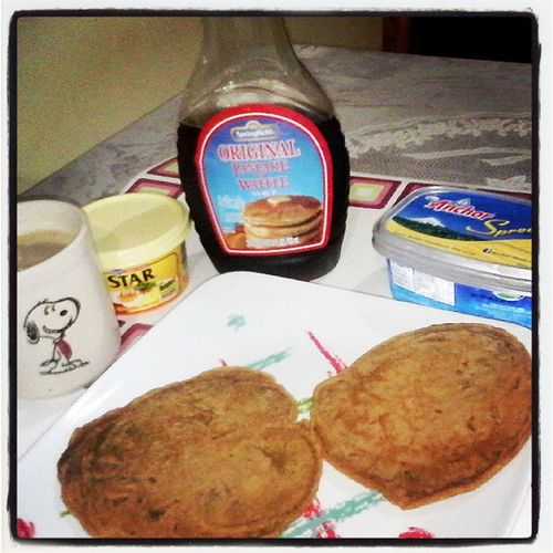 WholewheatPanacake Forbreakfast Andcoffee ☺