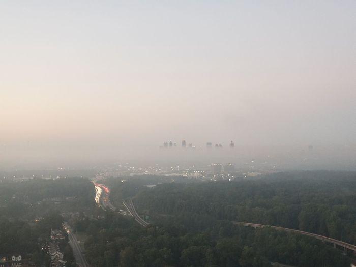 Atlanta foggy morning