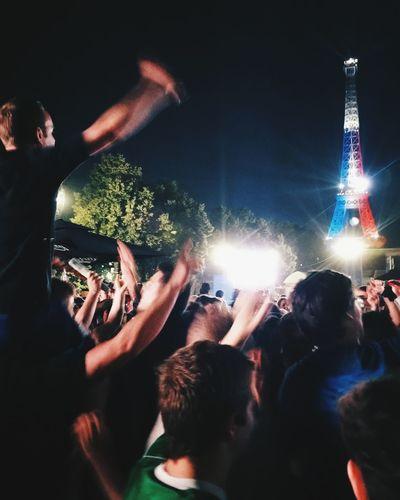 People enjoying at night