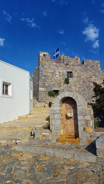 Blue Sky Greece GREECE ♥♥ Greece Photos Leros Leros Island Leros Greece Sunlight Sky Architecture Building Exterior Built Structure Historic History Historic Building Castle Ancient Archaeology The Past Building Fort Fortress Old Ruin Weathered