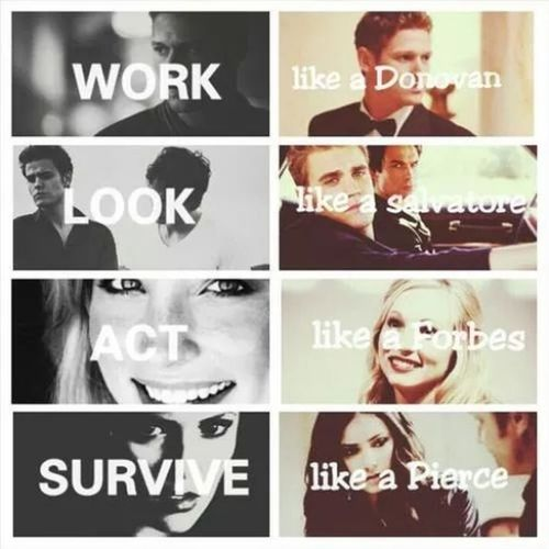Survive like a Pierce! Tvd <3 Tvd