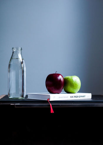 Apple Balance Book Detox Food Food And Drink Freshness Fruit Green Apple Healthy Eating Indoors  Minimal Minimalism Minimalist Minimalistic Offline Organic Reading Red Apple Relaxation Still Life Art Is Everywhere