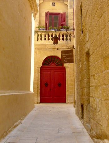 Ancient Civilization Architecture Life In Colors Entrance Europe EyeEm Colorful! Historic History Malta Maltaphotography Mdina What A Wonderful World Medieval Architecture Medieval House Mediterranean  Mediterranean Sea Old City Streets Place Of Interest Red Spirituality Tranquility Travel Traveling Wall Yellow