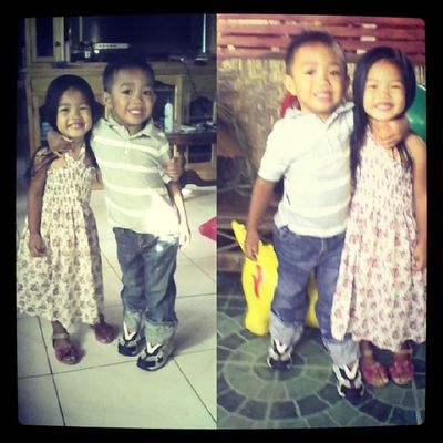 My babies are grown up! Out to attend mass! :)