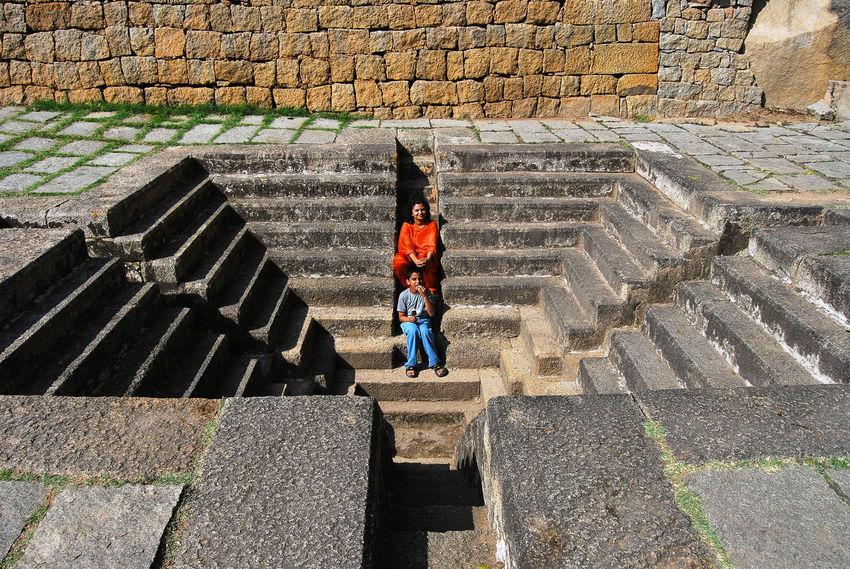 Chitradurga Chitradurgafort EyeEm EyeEm Best Shots EyeEm Gallery Incredible India India Tourism Karnatakatourism Outdoors Paving Stone Steps Symmetrical Symmetry Water