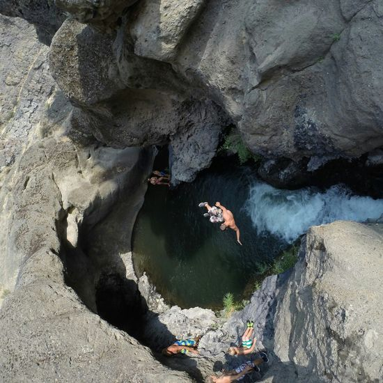 Flying High Outdoors Lifestyles Oasis Swimming Swimming Hole Desert Oasis From Above  Aerial View Drone  Dronephotography Aerial Shot Cliff Jumping Looking Down Outside Hiking Backpacking Summer Cave Outdoor Life Fun Good Times Adventure Exploring Creek Live For The Story The Great Outdoors - 2017 EyeEm Awards Second Acts An Eye For Travel #FREIHEITBERLIN Summer Sports
