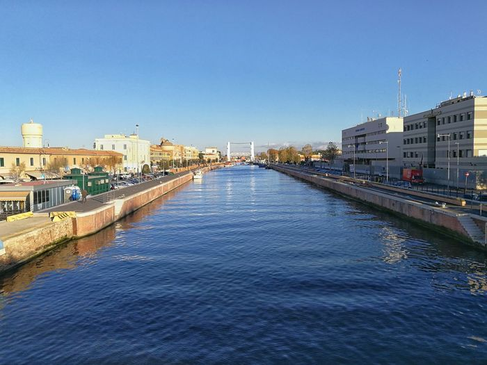 Cityscape Architecture City Urban Skyline Sky Building Exterior Outdoors Water Clear Sky Day Fiumicino Italy 🇮🇹 Canal