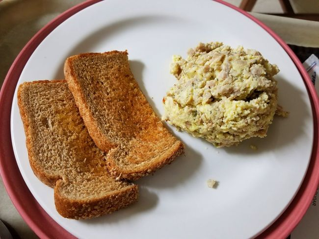 Nursing home food Hungry Menu Wheat Hospital Food Buttered Scramble Prepared Plated None Appetizing Gluten Bread Toast Culinary Cooking Herb Flavor Seasoning View From Above Eggs Nursing Home Food And Drink Food Healthy Eating No People Breakfast Indoors  Day Ready-to-eat Close-up Freshness