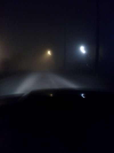 How foggy it was at night.