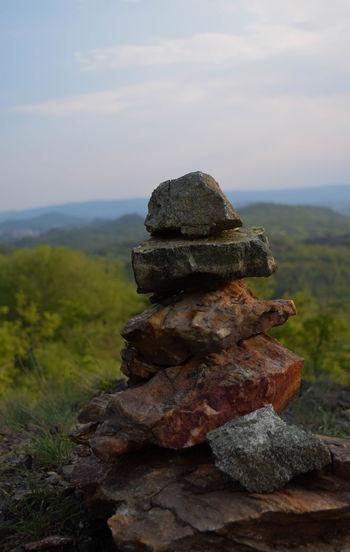 Hiking Ivrea Lago Sirio Nature Rock Totem Balance Close-up Day Ireadforfun Italy Nature No People Outdoors Piedmont Rock - Object Rocks Sky Stones Summer