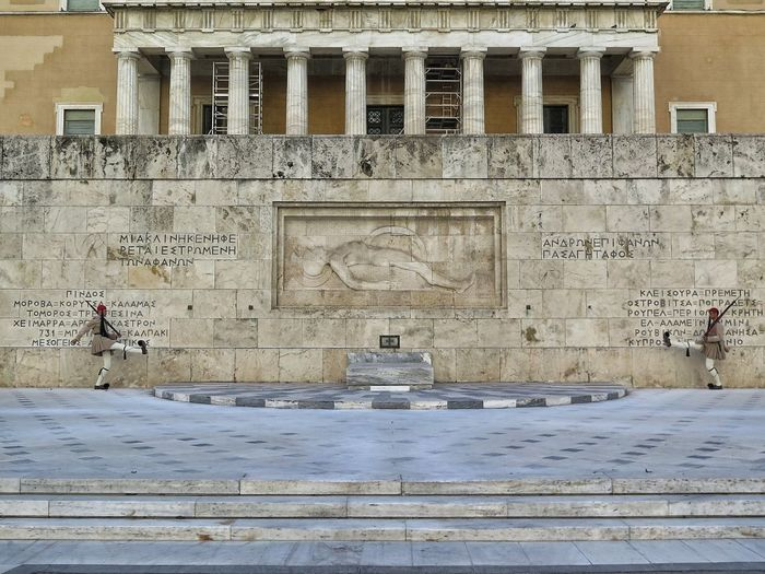 Syntagma Athens, Greece Changing The Guard Ceremony Parliament Building Greek Governement Military Uniform Evzones