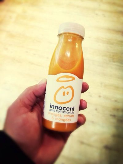 OK, instead of a coffee, grabbing a Smoothie from @innocentdrinks!
