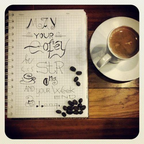 Espresso Cafesurabaya @stilrodcafe Coffee Coffeebean notepad handlettering
