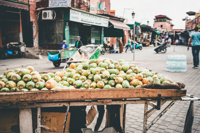 Cactus Fruits Food Fruit Large Group Of People Market Moroccan Food Moroccan Fruit Moroccan Style Outdoors Prickly Pear Prickly Pear Cactus Stall Street Street Shop
