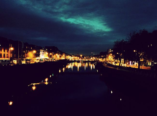 Dublin Street Photography River Liffey Nightphotography First Eyeem Photo