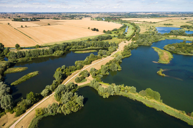 Aerial View Agriculture Country Park Day Drone  Environmental Conservation Lake Landscape Nature Nature No People Outdoors Park Recreational Pursuit Rural Scene Sky Tree Water