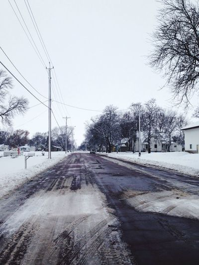 Snow Outdoors Road Winter Tire Tracks Trees