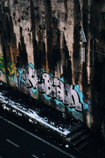 Close-up of graffiti