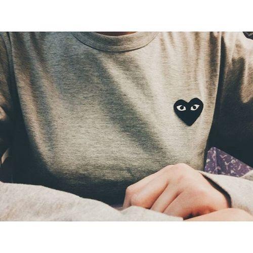 Commes Des Garcons Commesdesgarcons Commes Heart Blackheart fashion black grey