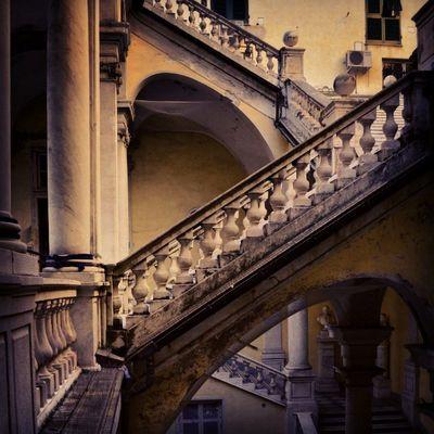 Genovese Stairs Palace Urbex Urban Exploration Urban Geometry Geometric Shapes