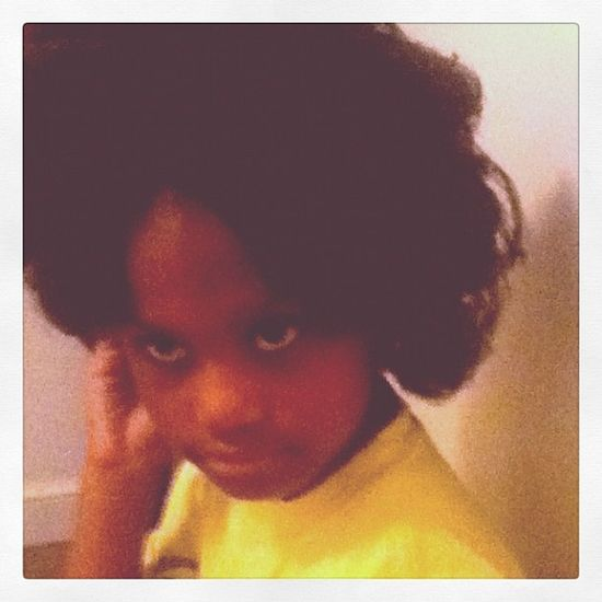 My Daughter Rocking the Fro Afro