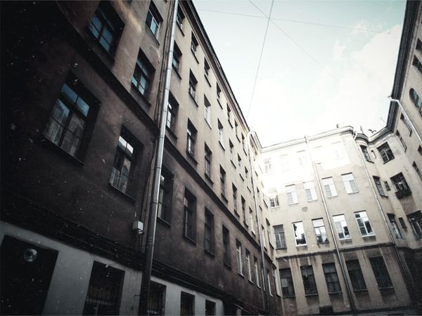 Architecturelovers Architecture Courtyard Of St. Peter Urban Skyporn Sky_collection Buildingphotography Leningrad