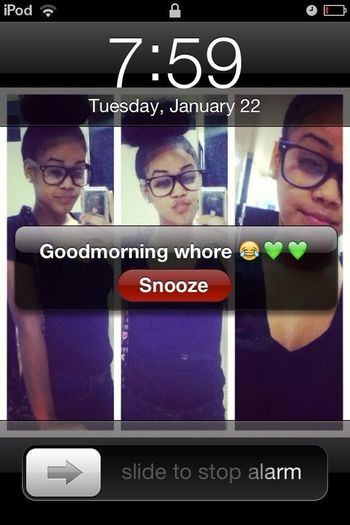 Told my cousin to set my alarm yesterday morning >.<