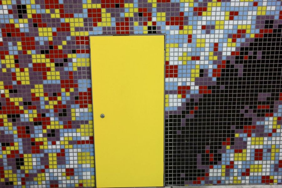 Abstract Close-up Geometric Shape Multi Colored No People Patterns & Textures Patterns I See Yellow Yellow Door TakeoverContrast