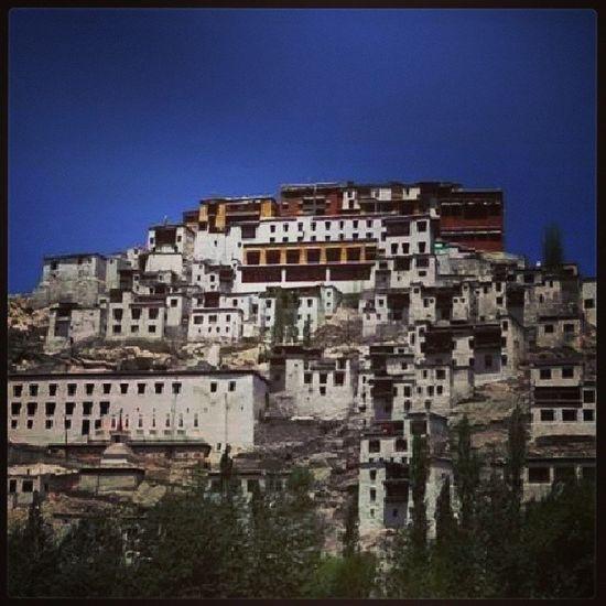 Thiksey Monastery Ladakh Leh kashmir india hills amateur himalaya Buddha religion Buddhism colours blue