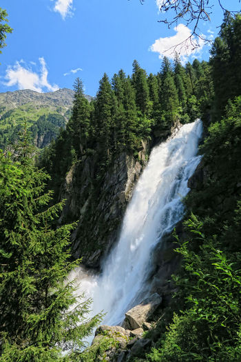 Krimml Waterfalls in summer. Hight Tauern mountain range nation park. (Austria) Alps Day Forest Krimml Krimmler Wasserfalle Krimmlerwasserfälle Landscape Mountain Nature Nature Reserve No People Outdoors Power In Nature River Scenics Stream - Flowing Water Tirol  Tree Water Waterfall Waterfalls