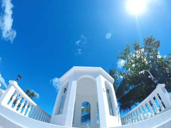 The happiness of a clear, bright, blue sky..... Architecture Blue Built Structure Sky No People Outdoors Building Exterior Day Goproph  Goprohero5 Goproph  Nofilternoedit Goprophilippines Goprophotography Happiness EyeEm Selects Original Nofilters Eyeem Philippines Beauty In Nature Landscape