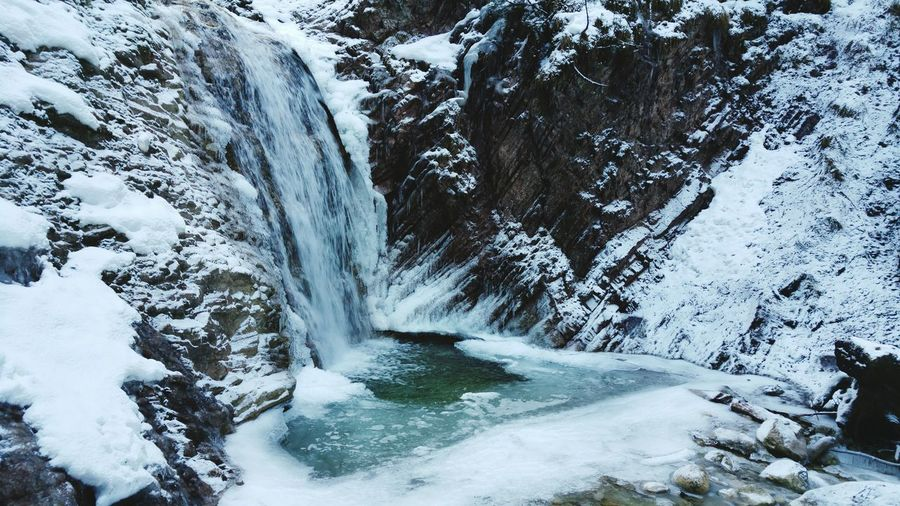 Cold Temperature Beauty In Nature Winter Snow Outdoors Cold Waterfall